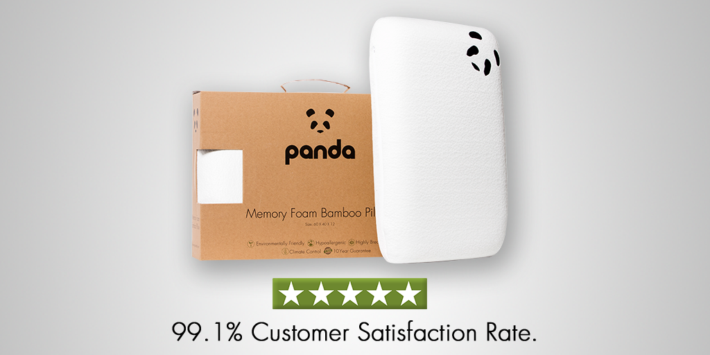 Panda Luxury Memory Foam Bamboo Pillow